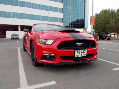 Ford Mustang Convertible V4 Price in Abu Dhabi - Sports Car Hire Abu Dhabi - Ford Rentals
