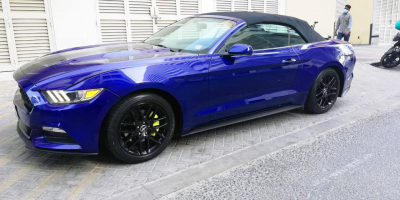 Ford Mustang Convertible V6 Price in Dubai - Sports Car Hire Dubai - Ford Rentals