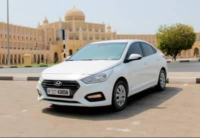 Hyundai Accent Price in Ajman - Sedan Hire Ajman - Hyundai Rentals