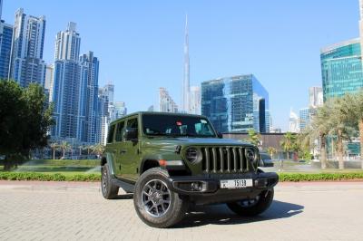 Jeep Wrangler 80th Anniversary Limited Edition Price in Dubai - SUV Hire Dubai - Jeep Rentals