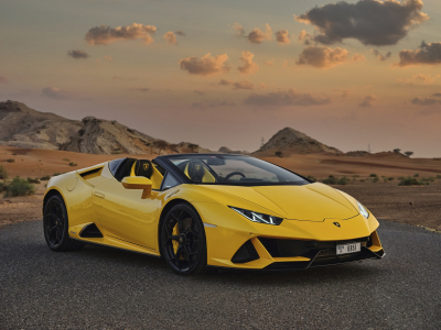 Lamborghini Huracan Evo Spyder Price in Abu Dhabi - Supercar Hire Abu Dhabi - Lamborghini Rentals