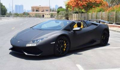 Lamborghini Huracan Spyder LP610 Price in Sharjah - Sports Car Hire Sharjah - Lamborghini Rentals