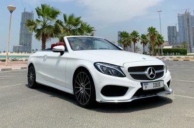 Mercedes Benz C200 Convertible Price in Dubai - Convertible Hire Dubai - Mercedes Benz Rentals