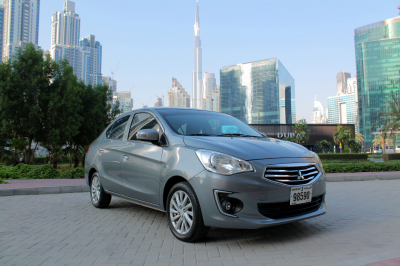 Mitsubishi Attrage Price in Ajman - Sedan Hire Ajman - Mitsubishi Rentals