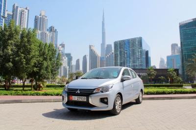 Mitsubishi Attrage Price in Dubai - Sedan Hire Dubai - Mitsubishi Rentals