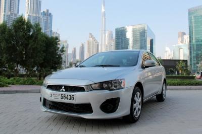 Mitsubishi Lancer Price in Ajman - Sedan Hire Ajman - Mitsubishi Rentals